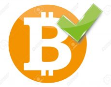 18909253-a-sign-of-bitcoin-accepted-here-stock-vector